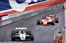 Williams FW08 Daly leads Alfa DeCesaris Monaco GP 1982